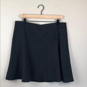Athleta Black Athletic Skirt w/Shorts (Size 12)